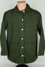 Pacsun Womens XS/S Olive / Army Green Denim Four Pocket Casual Cotton Chore Coat