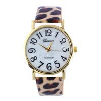 Fashion Women Retro Digital Dial Leather Band Quartz Analog Wrist Watch Unique/