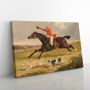 Fox Hunting Vol.1 By John Frederick Herring Canvas Print Wall Art Picture