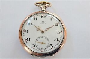 1900 SILVER AND GOLD CASED OMEGA SWISS LEVER 15 JEWELLED POCKET WATCH WORKING