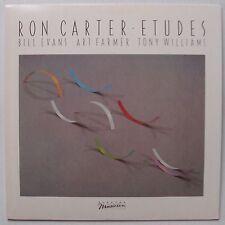 RON CARTER w/ BILL EVANS: Etudes PROMO vinyl lp JAZZ VG++ WLP Elektra