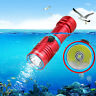 Underwater 10000LM XM-T6 White LED Diving Scuba Flashlight Torch Light Lamp New