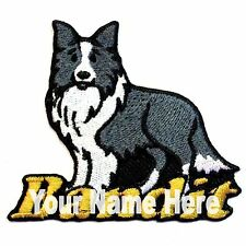 Border Collie Dog Custom Iron-on Patch With Name Personalized Free