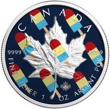 2017 1 Oz Silver ICE CREAM MAPLE LEAF Coin.