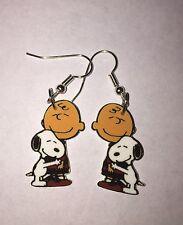 Charlie Brown & Snoopy Hugging Earrings Friends Charms