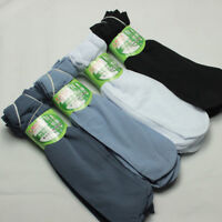 10 Pairs Men Socks Bamboo Fiber Ultra-thin Elastic Short Silk Stockings FAC