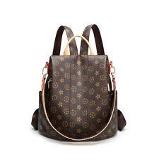 Leather Satchel Schoolbag Travel Shoulder Bag Bookbag Handbag for Women Backpack