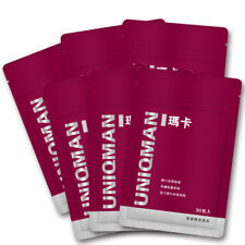 6 x UNIQMAN 6X Maca Enhance 30 capsules packet
