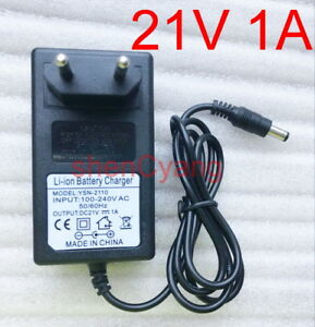 EU plug 21V 1A 1000mA charger adapter adaptor for Lithium Ion Battery Li-ion New