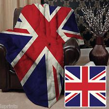 Union Jack Design Doux Couverture polaire Housse sofa lit couverture L&S motifs