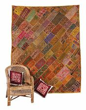 INDIAN POPULAR TAPESTRY WALL HANGING -HOME DECOR THROW -HEAVY VINTAGE PATCHWORK