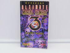 Vintage Offical Ultimate Mortal Kombat 3 Pocket Kodes Brady Games