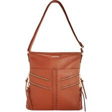 New Rampage Womens Brown Faux Leather Tote Hobo Handbag Purse Large