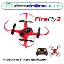 """MicroDRONE- FireFlyXL Mini Quadcopter Drone 4""""- Remote Control"""