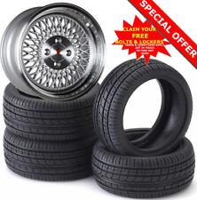 "15"" ST1 S Alloy Wheels Tyres 195/50r15 e21 e30 Golf mk1 mk2 mk3 Seat Skoda 4X100"