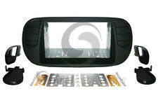 FIAT 500 2012-2015 Radio Stereo Dash Kit Standard 2DIN RUBBERIZED BLACK