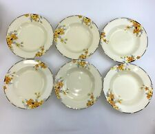 Set Of 6 Crown Ducal Sunburst Soup Bowls - 9 inches - Stunning