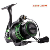Bassdash Alien Ultra Lightweight Carbon Spinning Fishing Reel With Handle New