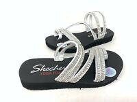 NEW! Skechers Women's MEDITATION GLAM FLASH Comfort Sandals White #31761 171M z