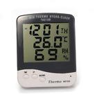 LCD Digital Outdoor/indoor Humidity Thermometer Temperature Meter Gauge Clock