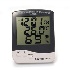 LCD Digital Outdoor/indoor Humidity Thermometer Temperature Meter Gauge Clock