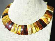 Elegant chic necklace from Baltic amber for women