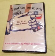 William Bill Clarkson I Gather As Much The Art of Robert Warner DVD 2006 sealed