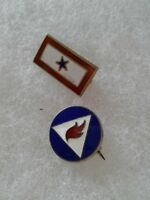 US Army WWII Son in Service Lapel Pin & UNKNOWN AIr Corps Home Front STERLING