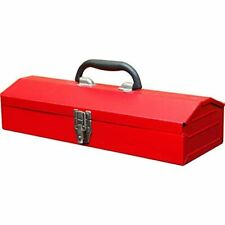 Small Red Heavy Duty Metal Tool Box Steel Storage Organizer Parts Tools 16 ""