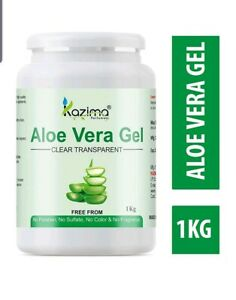 1x KAZIMA Aloe Vera Gel-100% Raw Pure Natural Gel-1 Kg Jumbo Pack-Free Shipping