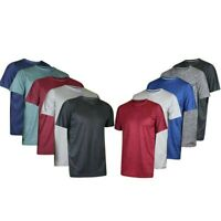 Men 5PCS Short Sleeve Quick-dry Tops Sports Solid Shirts Summer Sportswear Tees