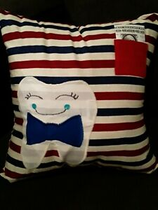 """Tooth fairy pillow boy-13"""" x 13"""" square"""