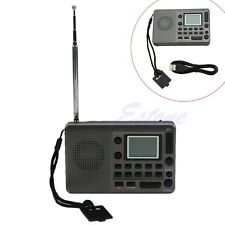Digital Tuning LCD Receiver TF MP3 Player FM AM SW Full Band Radio Portable New