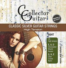 Collectorguitar 66ht concierto guitarras-cuerdas Classic Silver guitar strings nylon