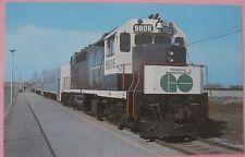 GO Transit 9806 Canadian National Railways  Ontario in 1971 Train Postcard