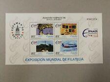 Sellos de España. Año 1996. Nuevos. MNH. HB espamer. Aviación y espacio