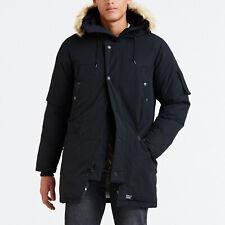 RRP $488 Levi's Premium Black Hooded Down Parka Jacket Size XXL (2XL)