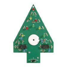 Christmas Tree Kit  w/Flashing Colored LED'S and 3 Christmas Songs (soldering)