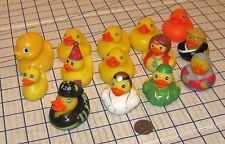Mixed Lot of 14 Mini Rubber Duckies Fire Space Party Doctor Hippie Ducks VG