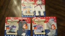"McDonalds Ty beanie babies ""Libearty"" ""Lefty"" + ""Righty"" Never opened"