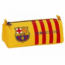 FC BARCELONA Childrens Pencil Case Pouch Striped Yellow Red (8412688233557)