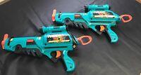 Lot (2) Vintage 1998  NERF Hyper Sight Expanding Blast Dart Gun