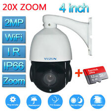 20X Optical Zoom HD 1080P CCTV PTZ IP Wifi Camera Outdoor Tilt Onvif IR+SD Card