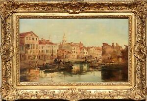George Clarkson Stanfield, View of the Campo di Marte, Venice, Oil on Canvas, si