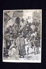 Costumi del Marocco - Una via di Tangeri Incisione del 1885