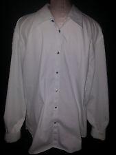 ARMANI EXCHANGE Mens Long Sleeve Button Front Shirt Sz XL White Black Stripe