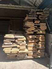 """Waney Edge Solid brown oak boards kiln dried planks 2"""" thickness"""