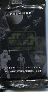 Star Wars CCG Premiere White Border Unlimited Factory Sealed Hobby Packet / Pack