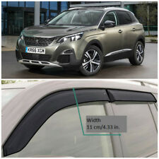 Wide Window Visors Side Rain Guard Vent Deflectors For Peugeot 3008 2017-2018