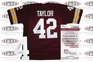 Charley Taylor Signed Maroon Washington Custom Pro Style Jersey JSA Witnessed